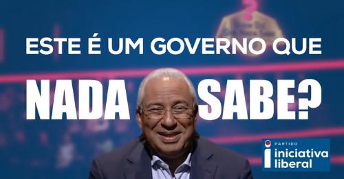 """""""António Costa Nunca Sabe Nada?"""" Vídeo da Iniciativa Liberal Mete Em Causa a Palavra do Governo"""