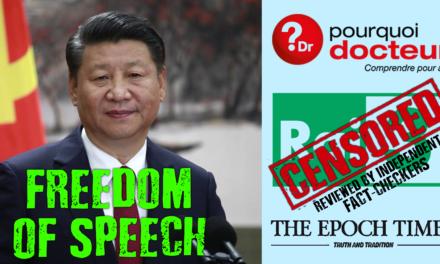 Facebook Censura Notícias Ocidentais, Deixa Passar Desinformação Chinesa