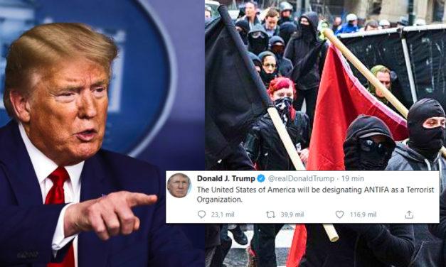 """Trump Designou Oficialmente os """"Antifa"""" como Organização Terrorista"""