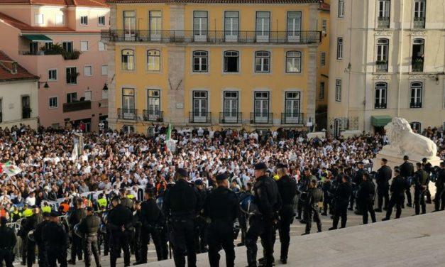 Reportagem do Notícias Viriato na Manifestação dos Polícias