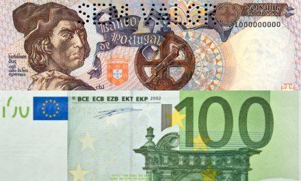 Rendimento Médio dos Portugueses com o Euro está Abaixo do Tempo em que se Usava Escudos